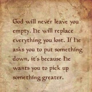 I absolutely love this.  Thinking about life 10 years ago and the life I have now... He gave me something far greater, and in the end, it was all worth it.