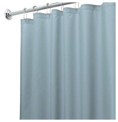Interdesign Design Waterproof Shower Curtain Liner Blue 72 X 72 Slate Shower Curtains And