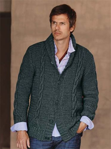 Bergere de France Shawl Collar Jacket Knitting Pattern