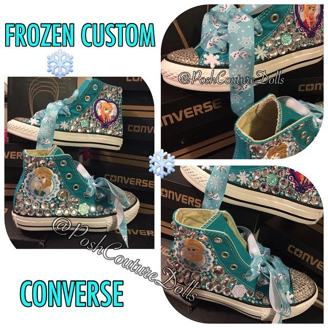 """""""・・・FROZEN INSPIRED CUSTOM CONVERSE!  TO ORDER: www.poshcouturedolls.net or our Etsy Shop ☑️ANY SIZE ☑️ANY COLORS ☑️ANY THEME ☑️ANY CHARACTER ☑️TEXT FOR PAYPAL INVOICE 404-566-6201 ☑️MUST BE READY TO PAY #customchucks #customconverse #shoes #bling #docmcstuffins #kidsboutique #allstars #converse #custom #handcrafted #oneofakind #pinkpurple #girlsconverse #chucks #elsaconverse"""" Photo taken by @poshcouturedolls on Instagram, pinned via the InstaPin iOS App! http://www.instapinapp.com…"""