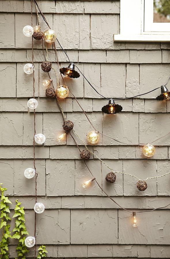 Allen + Roth White Tinted Glass Shade Plug In Globe String Lights At Loweu0027s.  This Allen + Roth Mercury Glass String Light Will Provide Perfect Warm  Ambiance ...