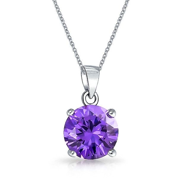 Bling Jewelry My February Bauble ($21) ❤ liked on Polyvore featuring jewelry, necklaces, accessories, colar, joias, necklaces pendants, pendant-necklaces, purple, purple jewelry and purple necklace