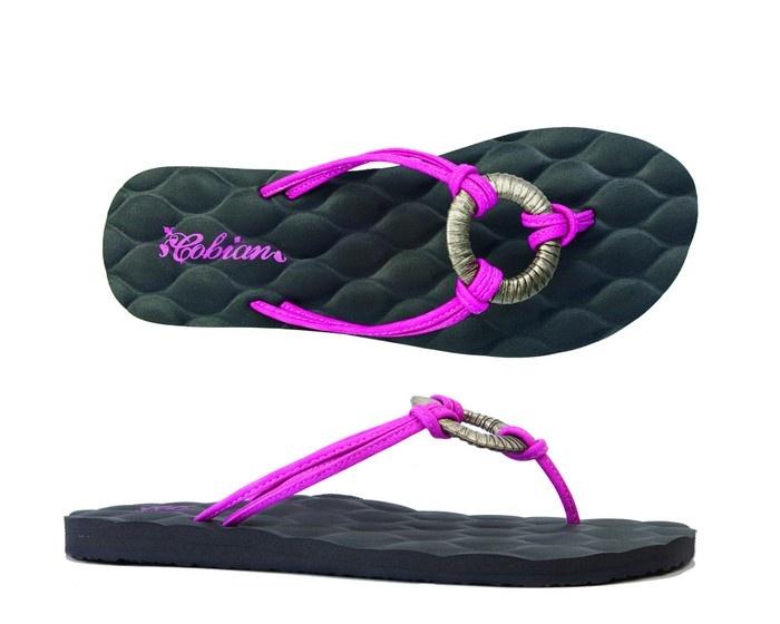 Cobian Sandals Women's  Milano Plush Magenta Sandals Flip Flops