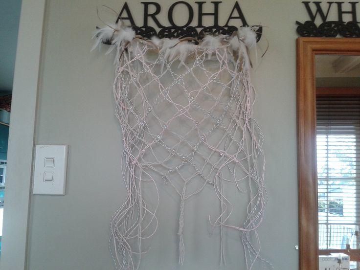 Dreamcatcher made by using the Kupenga(fishing net)weave
