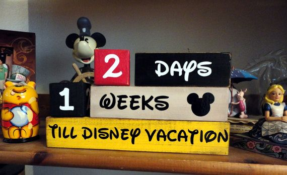 Disney Vacation Countdown Wooden Block set. I want this!!!!!!