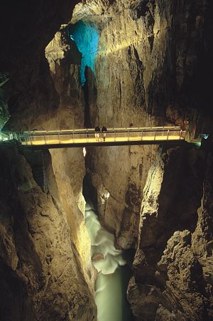 Cerkvenik Bridge in the Skocjan Caves - Karst, Slovenia.