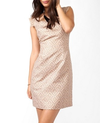Or wedding dress? Forever21/Love 21 Mosaic Metallic Sheath Dress $27.80