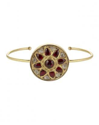 Kundan Ruby & Diamond Bracelet