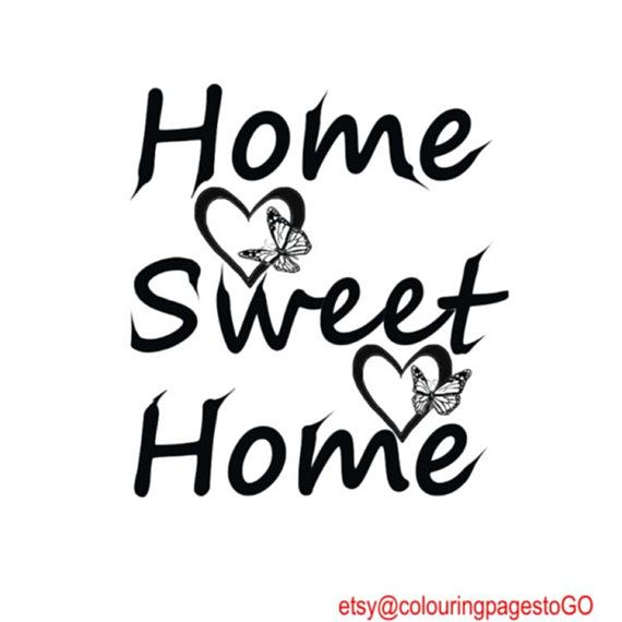 Quotes Home Sweet Home 8x10 11x14 16x20 20x24 Printable Wall