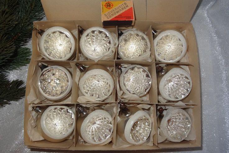 alte Lauschaer Kugeln Silber Reflexkugeln Christbaumschmuck 60 Jahre alt um 1950 | eBay