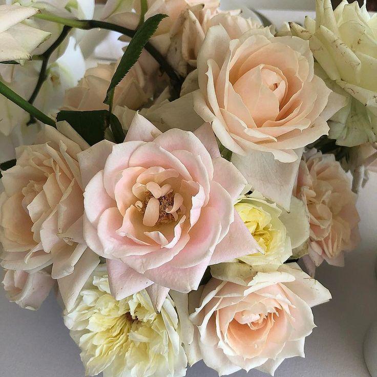 pastel roses | floral design | table arrangement | pastel palette | hunter gatherer florist
