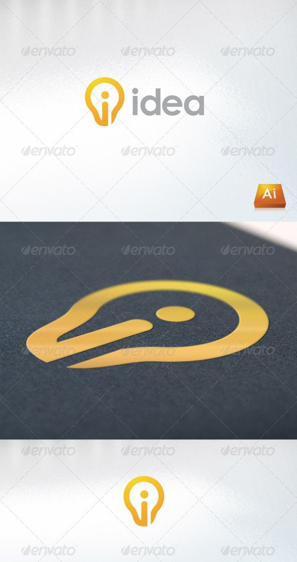Idea Letters Logo Template Vector AI. Download here: http://graphicriver.net/item/idea/666778?s_rank=63&ref=yinkira