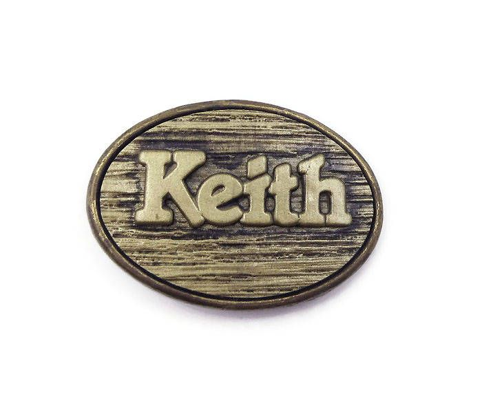 Oden Brass Belt Buckle Monogrammed Keith - Vintage 1970s 1980s, Personalized Name, Made in USA, American Made, Vintage Belt Buckle by zephyrvintage on Etsy