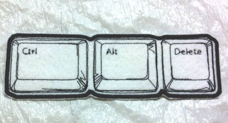 """CONTROL ALT DELETE - Geeky Embroidered Iron-On Patch 7.25"""" X 2.25"""" FREE SHIPPING #Unbranded"""