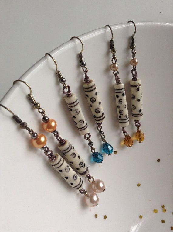 Tribal dangle earrings with modern twist tribal by ViewofBeauty