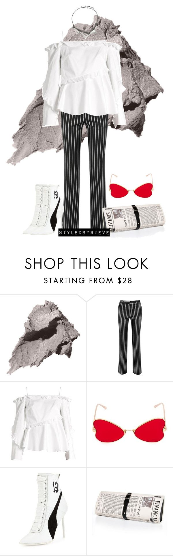 """Nobody's Business"" by styledbysteve ❤ liked on Polyvore featuring Bobbi Brown Cosmetics, Paul & Joe, Anna October, RetroSuperFuture, Puma, Papà Razzi and Alexis Bittar"