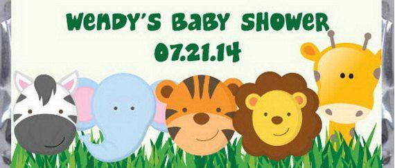 Besos de Hershey de ducha bebé selva pegatinas  selva
