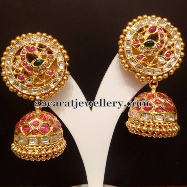 Exquisite Jhumkas and Bangles   Jewellery Designs