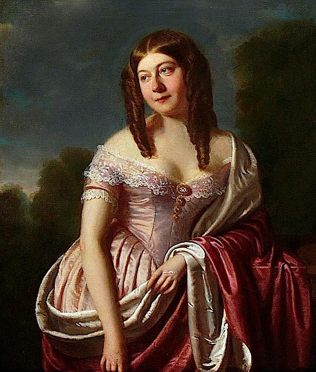 Susanna Arethusa Gibson, née Cullum (1814–1885), society hostess and political activist by Spiridione Gambardella (St Edmundsbury Museums - St Edmundsbury, Suffolk UK)