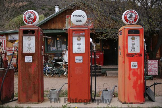 Antique Gas Pumps  Automotive Art  Old Gas Pumps  by turquoisemoon, $35.00