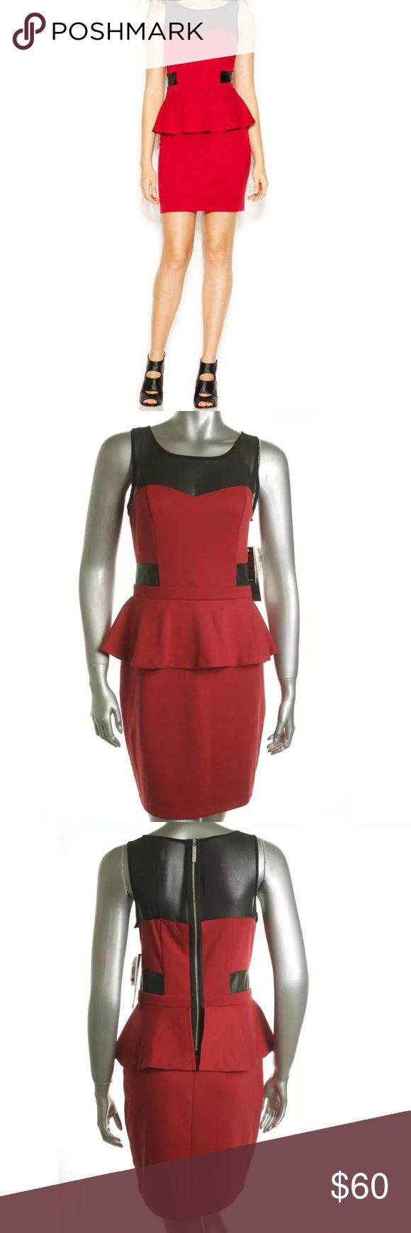 Kensie Peplum Dress Brand - Kensie Color - Red & Black Peplum Dress Size - XS Sleeveless  Material - Polyester  New with Tags Accepts Offers Kensie Dresses