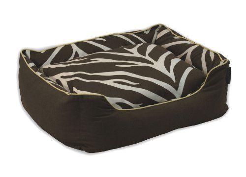 Animal Print is always in trend   EZ Living Home Zebra Water Repellent Couch Bed Cream on Brown