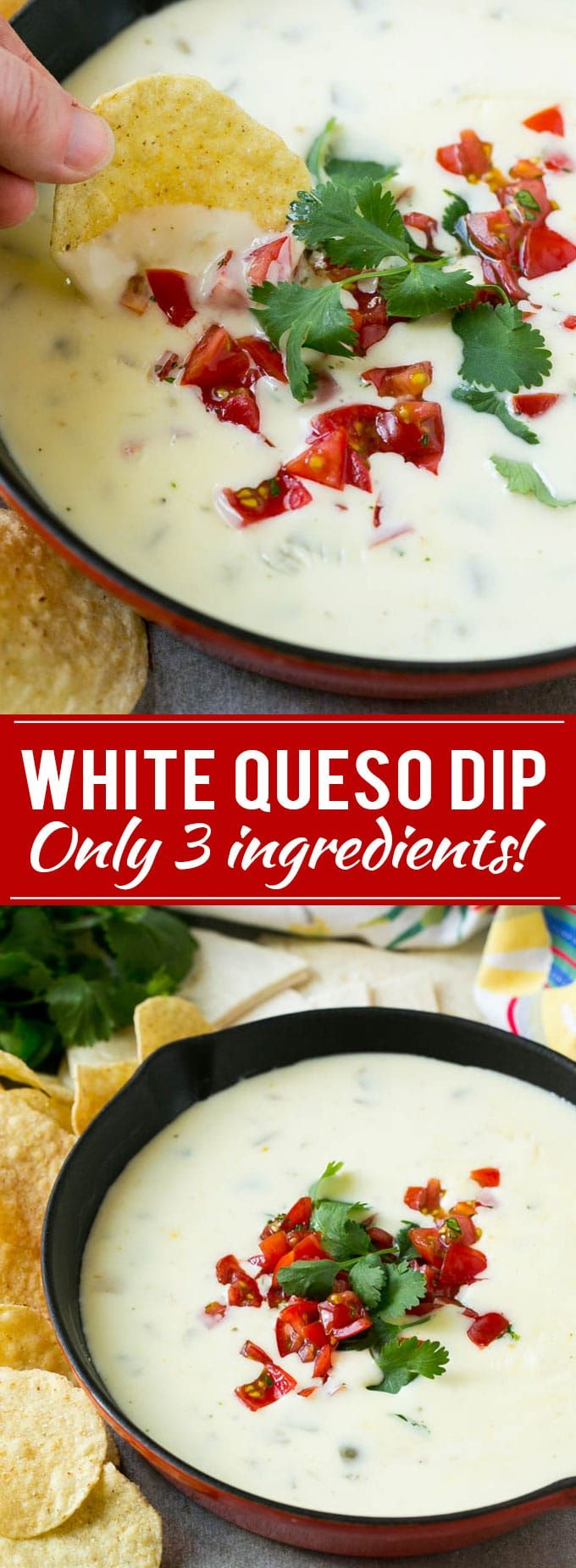 White Queso Dip Recipe | Mexican Cheese Dip | Queso Blanco Recipe