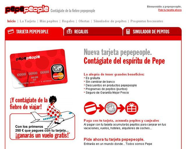 tarjeta MasterCard Pepepeople