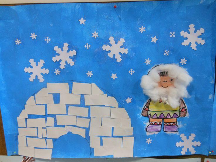 Eskimo en iglo