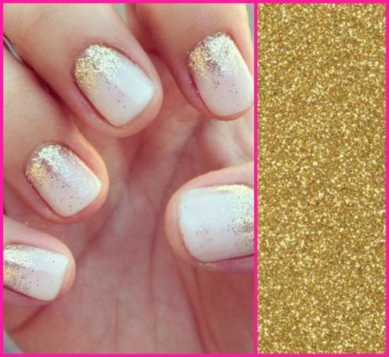 nail art glitter como fazer
