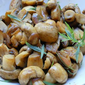 Marinated Mushrooms from Gordon Ramsay. Side Dish. This recipe takes the everyday button mushroom and transforms it.  Love this recipe.