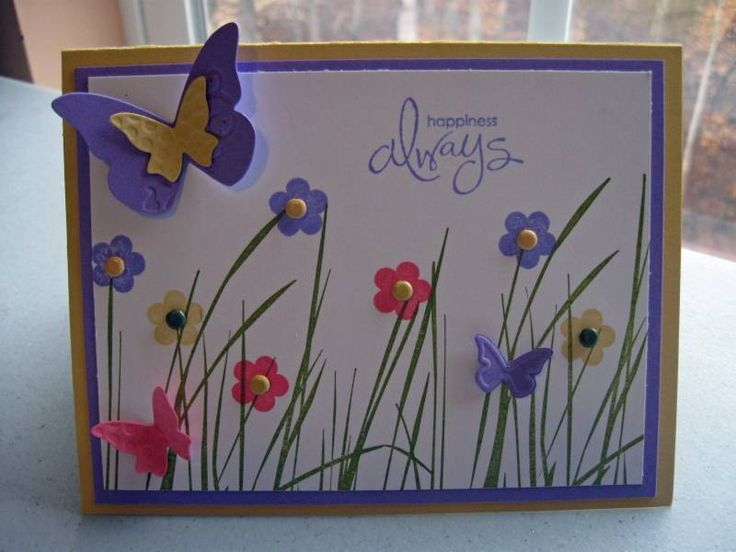 Butterfly Happiness Always by wendyluvs2stamp - Cards and Paper Crafts at SplitcoaststampersWhimsical Butterflies Cards, Cards Creations, General Cards