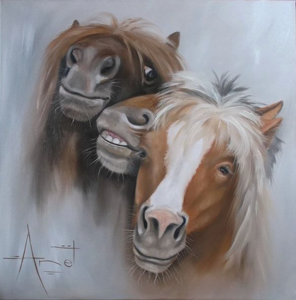 Selfie Oil on canvas 60cm x 60cm SOLD