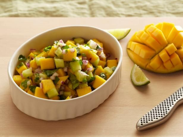 Recipe of the Day: Ellie Krieger's Mango Salsa This healthy, summery twist on the scoopable favorite is packed with crunchy cucumber, tossed with a good squeeze of lime and works as a killer appetizer or garnish.