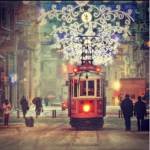 İstanbul Beyoglu in winter