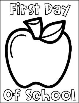 First and Last Day of School Printable Coloring Pages
