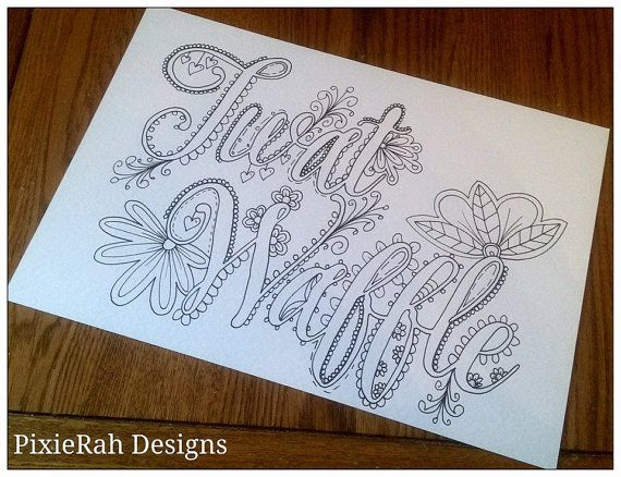 twat waffle sweary colouring page by pixierahdesigns on etsy i need this in my life