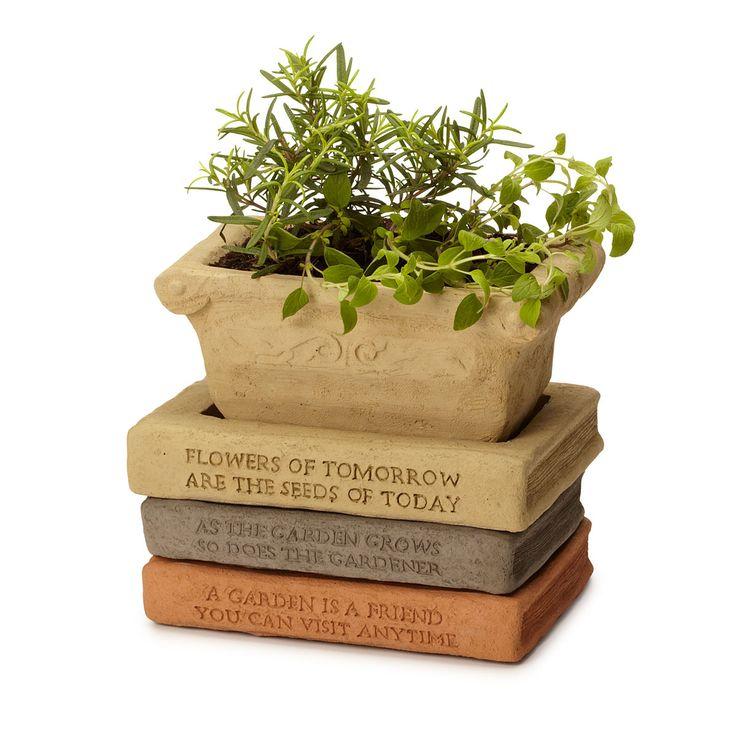 new bracelets HERB POT BOOK SAUCER STACK  Gardening Ideas