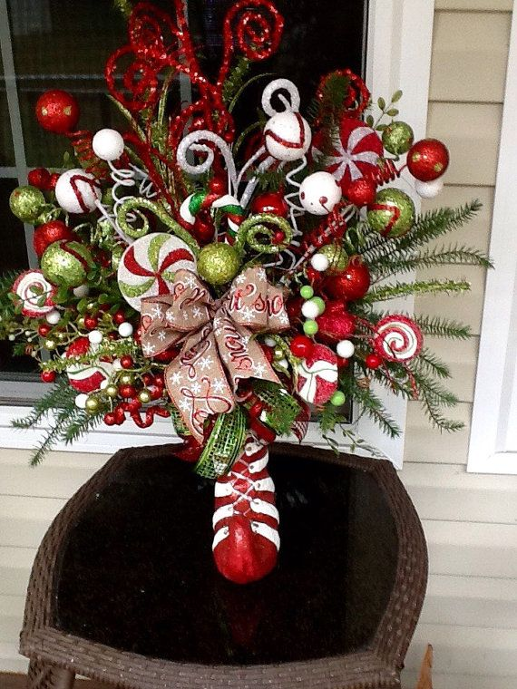 Elf arrangement christmas centerpiece holiday by