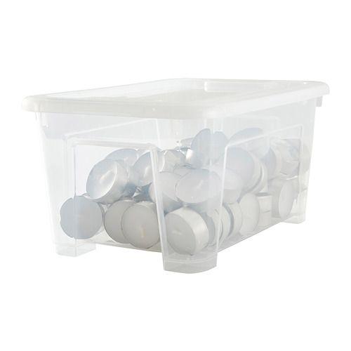 SAMLA Box with lid, clear clear 11x7 ¾x5 ½ $1.99