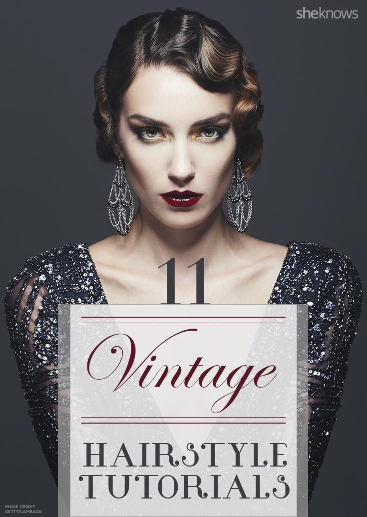 Elegant and awesome vintage hairstyle tutorials