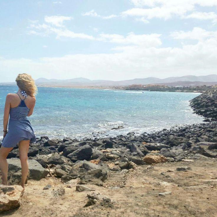 She is the entire ocean.  Caleta de Fuste, Fuerteventura