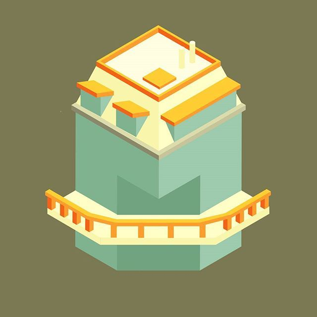 //243. Strange Building// - Practice in odd shape building. Difficult to decide the angle that match another side 😣 if you have any feedback, let me know it😀 colorpallette from Carrot Cafe by Twinklemittens - #book #illustration #vectorart  #visforvector #pirategraphic #graphicdesigncentral  #vaniladesign #architecture #architecturelovers #iso #adobeIllustrator #3d #architect #buildingblocks #isometric #infographic #building #city #graphicdesign #beautiful #designInterior #colorpallete…