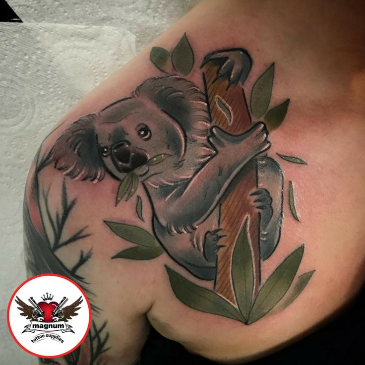 Koala tattoo from adam link created using