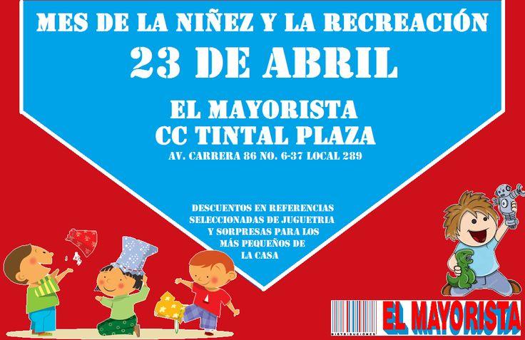 No te pierdas las sorpresas que el Mayorista CC Tintal Plaza tiene para los más chicos de la casa  este 23 de abril.