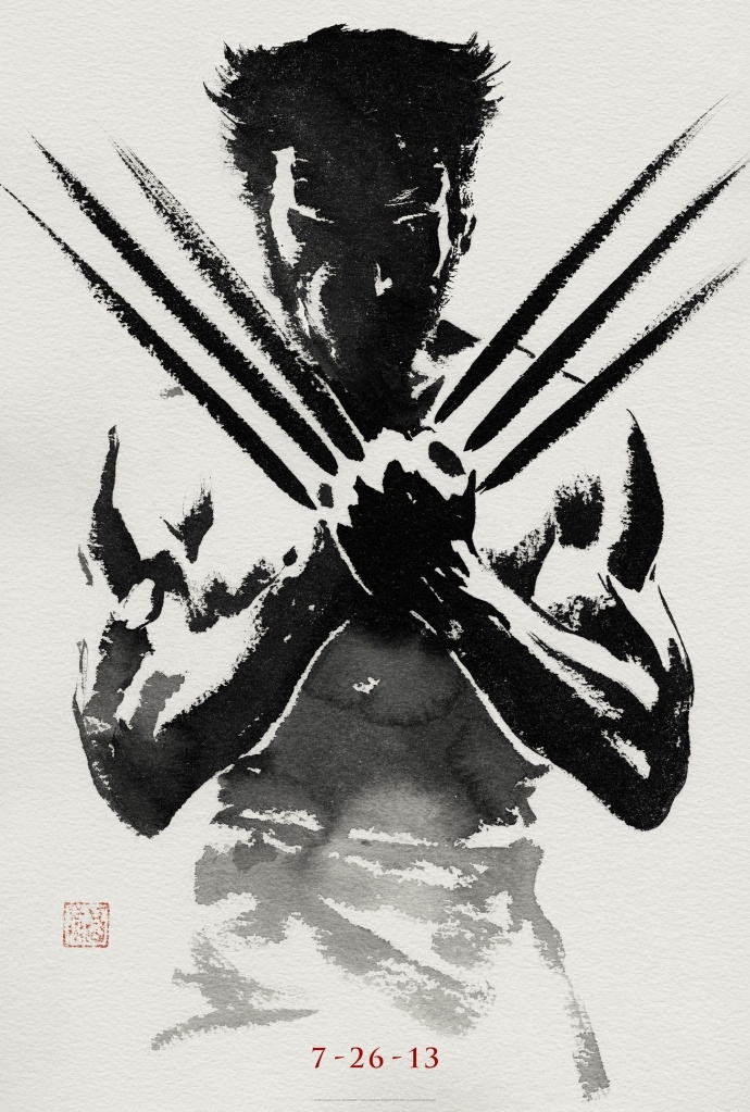 Black and White The Wolverine Movie Poster 2013