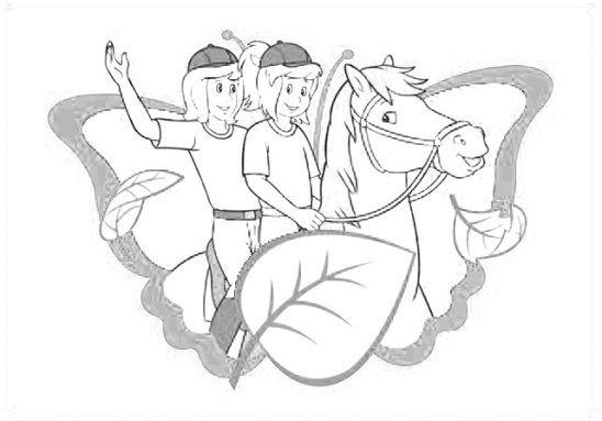 Bibi Und Tina Bilder Zeichentrick Ausmalbilder Vorlagen Fur