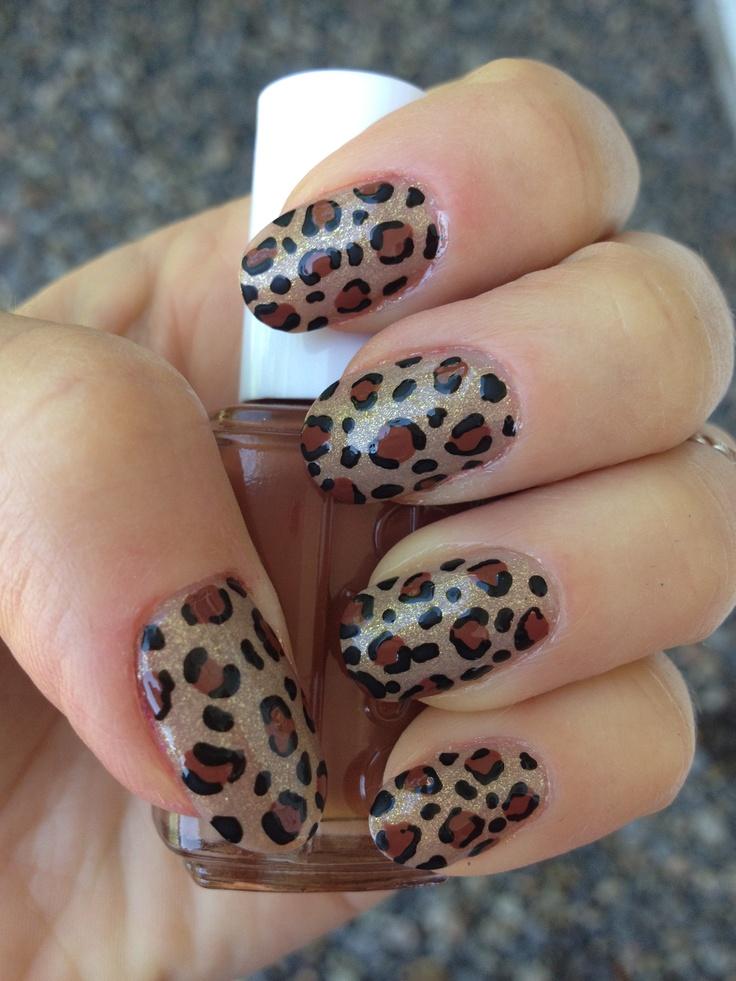Classic Colored Leopard Nail Art!