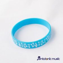 Notes Wristband - Blue