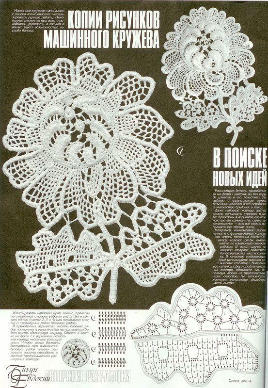 Elementy koronki irlandzkiej, wzory koronki irlandzkiej - tutoriale, motywy koronki irlandzkiej, crochet irish lace motives patterns, irich lace crochet patterns